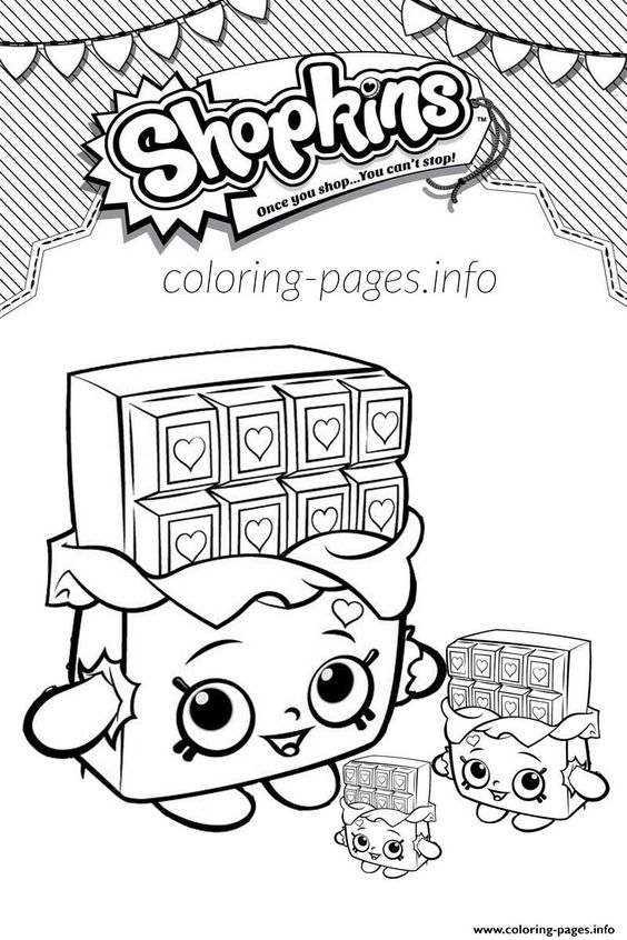 Print Shopkins Cheeky Chocolate And Babies Coloring Pages All Things