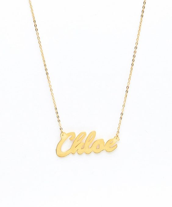 Look at this Gold Personalized Pendant Necklace on #zulily today!