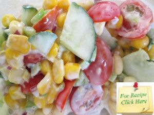 A Cold Corn Salad Recipe can use left-over cooked cobs of corn or canned corn or even frozen corn - making it a great salad year-round.