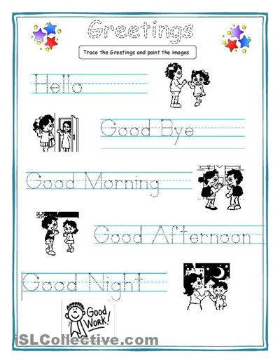 Worksheet Worksheets For Esl Students Beginners hello goodbye teaching and kid on pinterest this is a very simple but useful worksheet special for students who dont write or read yet greetings writing worksheets beginner kindergarten
