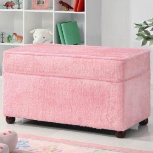 Kids Storage Bench Furniture Toy Box Bedroom Playroom: Kids Storage Bench Toy Box Pink Girls Seat Bedroom Toy