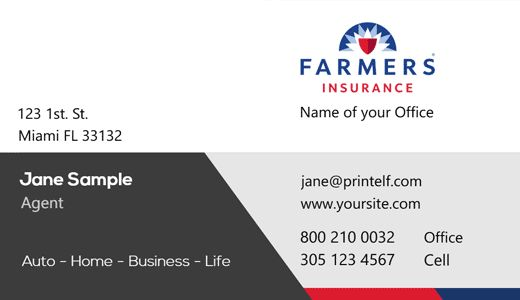 Farmer Insurance Modern Design Farmers Insurance Free Business Card Templates Business Insurance