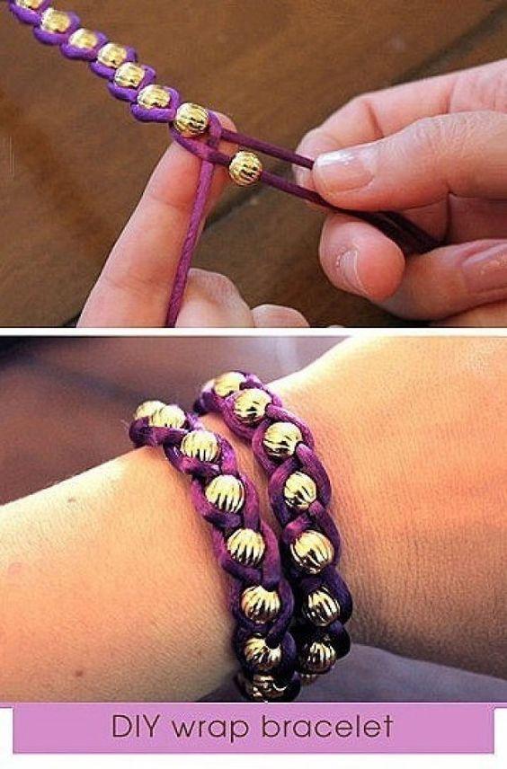 Leuk armbandje gemaakt van kralen.