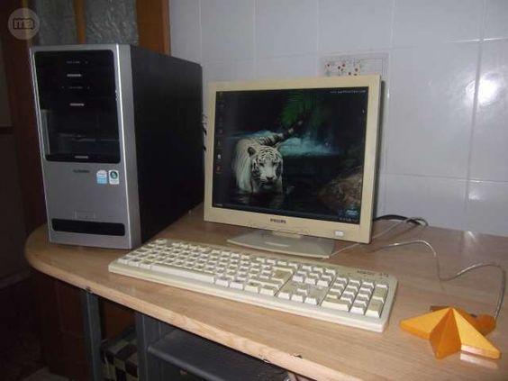 se vende en elche 70 euros tlf:617775834.AMD Athlon XP, 2200 + 1666 MHz Windows XP Professional  recien formateado e instalado con limpieza fisica interna  y sustitucion de pasta termica 736 mb de ram 60 gigas de disco duro Placa de video 32 MB 4 puertos USB detras DVD Y CD monitor plano teclado y raton de regalo  con 843 juegos de la sega  el ordenador va muy bien