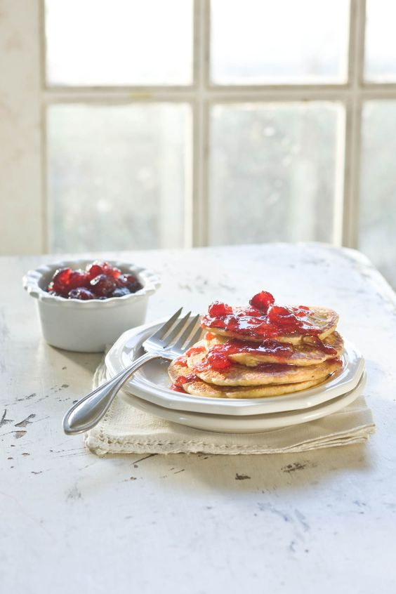 Cornmeal pancakes, Pancakes and Syrup on Pinterest