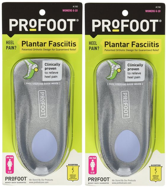 Amazon.com: Profoot Plantar Fasciitis Orthotics, Women's Size 6-10, 2 Pairs: Health & Personal Care