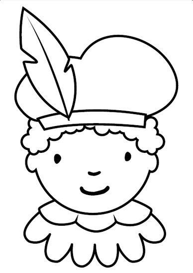 Sint Nicolaas en zijn Maatjes; Leuke Kleurplaat van Maatje Piet, Kleur en versier dit Pietje naar hartelust. Meer Pietjes vormen een Superleuke Slinger!