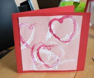 Kid-made valentine cards #valentines