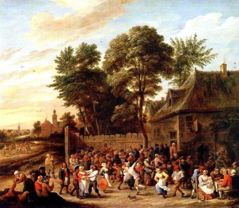 Teniers the Younger, David - The Village Feast, Baroque, Oil on canvas, Cityscape - Metropolitan Museum of Art - New York, NY, USA