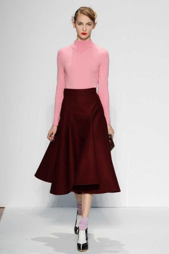 The Turtle Neck And Long Circle Skirt Were Influenced By The Fashion Of The 50s. Although This ...
