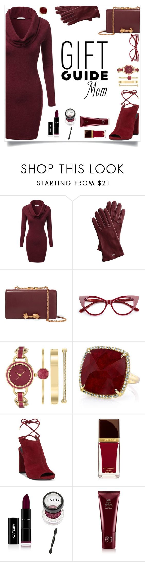 """Gift Guide Mom-"" by alliesmns ❤ liked on Polyvore featuring J.TOMSON, Mark & Graham, Valentino, Anne Klein, Anne Sisteron, Kenneth Cole, Tom Ford and Oribe"