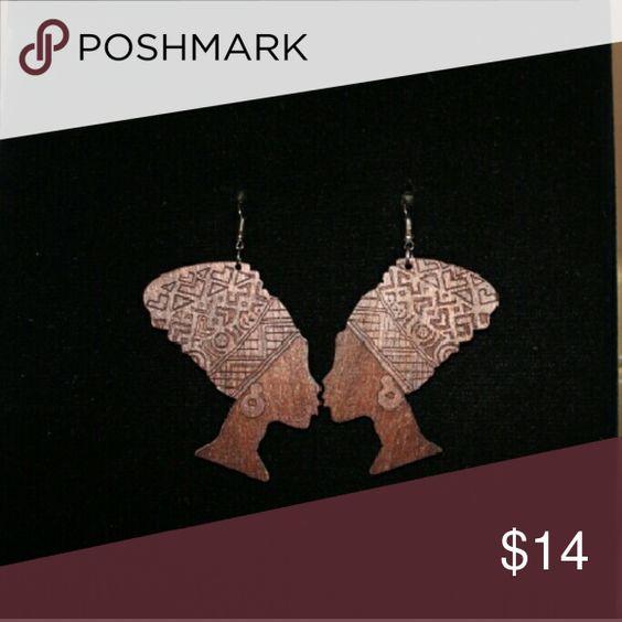 Jewelry Brown wooden earrings Jewelry Earrings