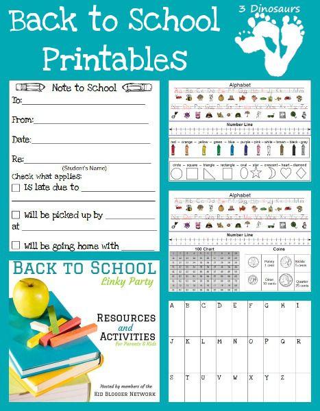 Kindergarten Calendar Chart : Free back to school printables calendar charts