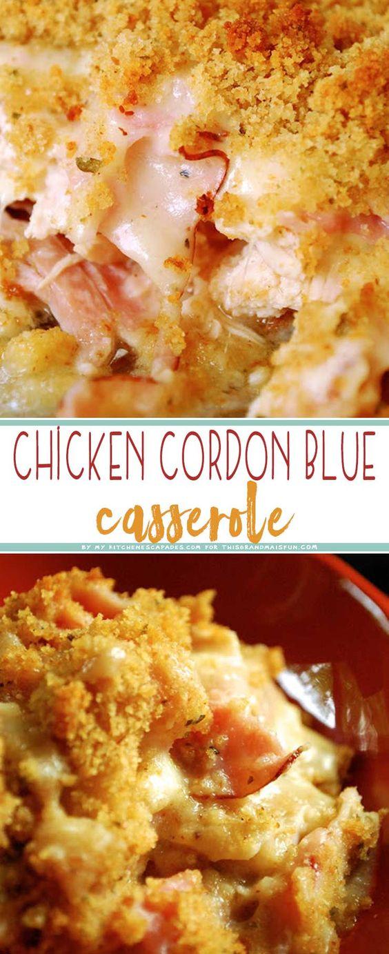 Chicken Cordon Bleu Casserole - TGIF - This Grandma is Fun