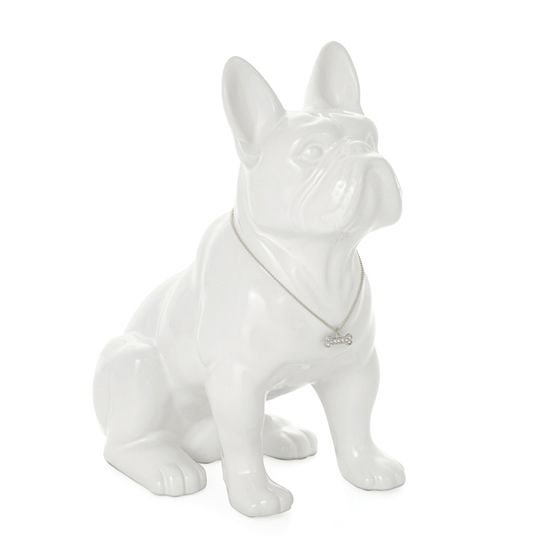 Sitting French Bulldog - White : Decorative Accents. Find all room accents and home accessories in one place. Urban Barn has hundreds of ideas  to compliment your decor.