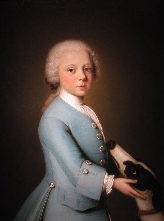 Portrait of Engelbertus Martensz. baron van Harinxma thoe Heegh, lord of Onstein and Groot-Jarla, at the age of six - Bernardus Accama, 1746: