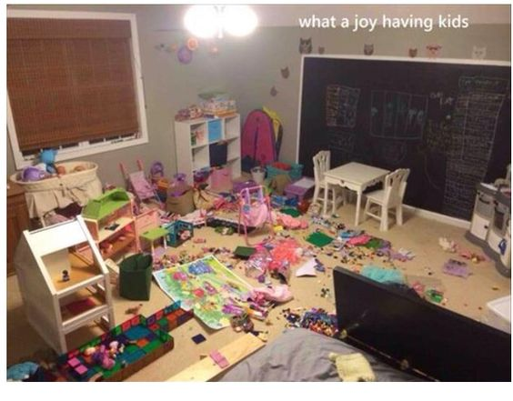 My house is untidy, but at least it's MY mess!