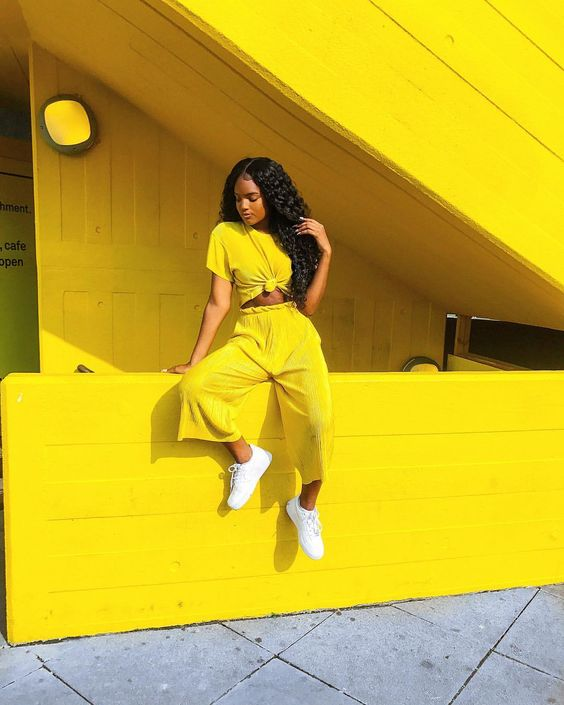 "20.1k Likes, 207 Comments - @dazhaneleah on Instagram: ""My entire mood: wear yellow when London is rainy and miserable"""