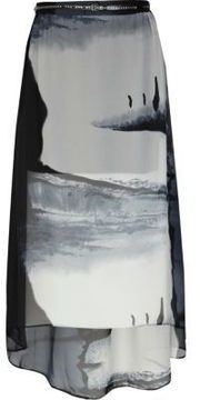 Grey scenic print maxi skirt on shopstyle.co.uk