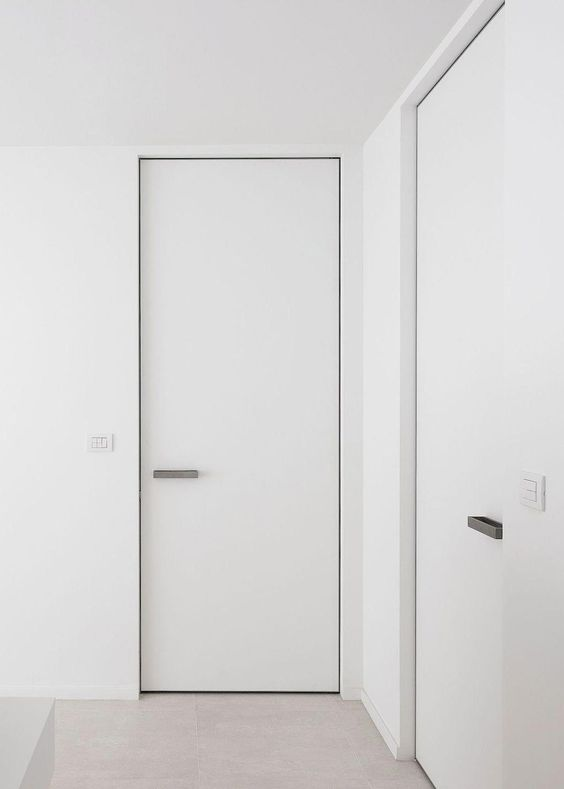 pintu minimalis putih polos satu pintu