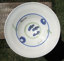"Bowl Art Pottery Wheel Thrown 10"" Wide Low Fruit / Spaghetti Serving Porcelain"