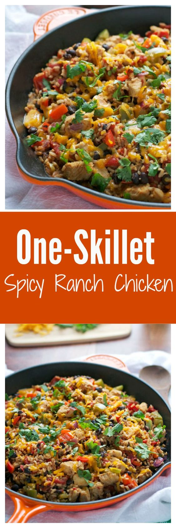 Ranch chicken, Skillets and Spicy on Pinterest