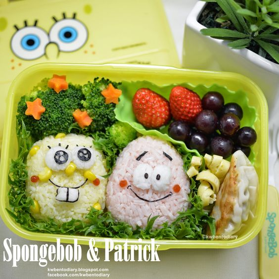 Karenwee's Bento Diary: Bento2015#Mar12~SpongeBob & Patrick
