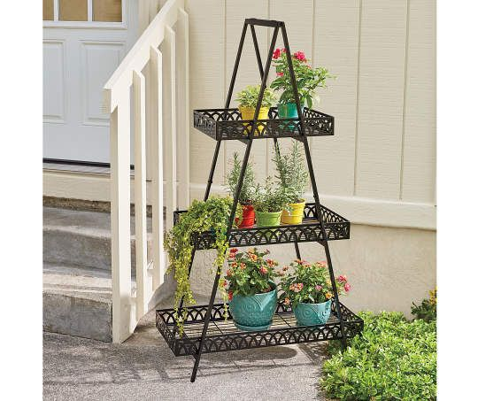 Wilson Fisher 3 Tier A Frame Plant Stand Outdoor Garden Decor