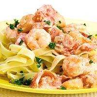 Recept - Pasta met romige garnalen - Allerhande