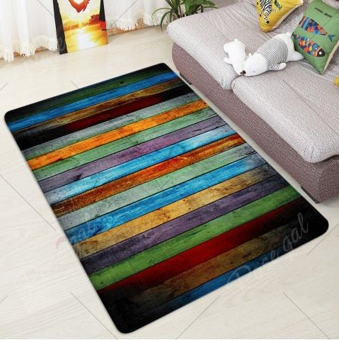 Colorful Stripe Velvet Large Area Rug Area Rugs Large Area Rugs Rugs On Carpet