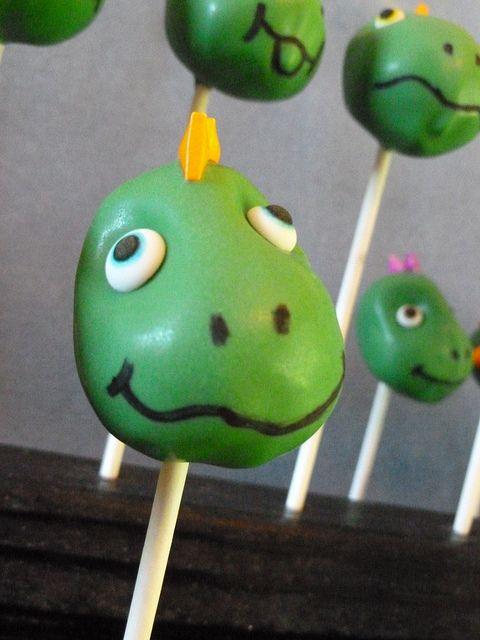 Dinosaur Cake Pops:
