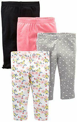 Monvecle 3pcs Pack Unisex Newborn Baby to Toddle Cotton Long Pants Cartoon Leggings