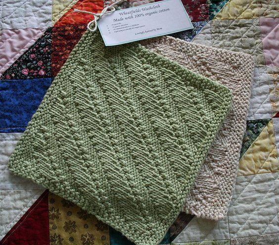 Knit Dishcloth Pattern Ravelry : Ravelry Free Knit Pattern - Wheatfields Dishcloth Knitting Inspiration (Dis...