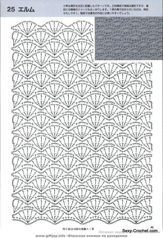 Fantástico Shell Patrón Crochet Modelo - Ideas de Patrones de ...