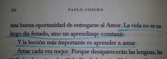 La lección más importante es aprender a Amar Adulterio #Coelho