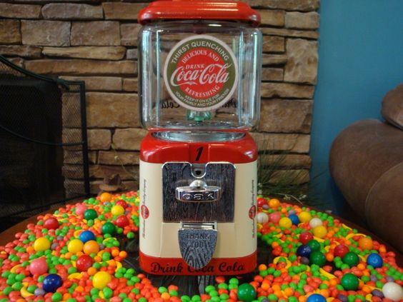 Vintage 1950's Oak *COCA COLA* Gumball & Candy Vending Machine