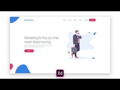 Adobe Xd Landing Page Design Tutorial With Undraw Youtube Landing Page Design Page Design Design Tutorials