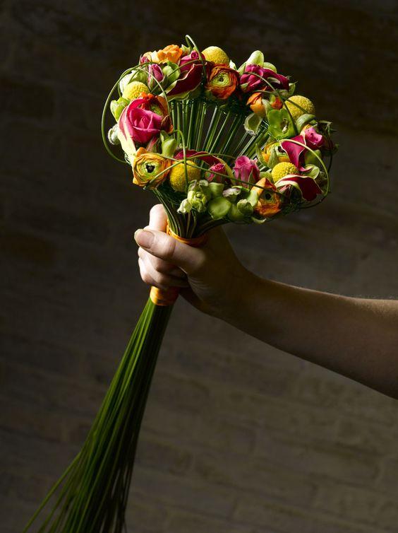 Mixed flower bouquet - Valentijn Sneek #bouquet #unique #weddings
