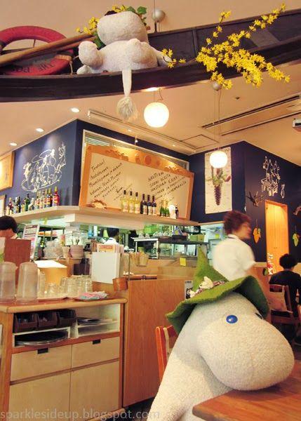 kawaii travels: moomin themed cafe, tokyo japan. cutest food ever! - I think I want to go here.