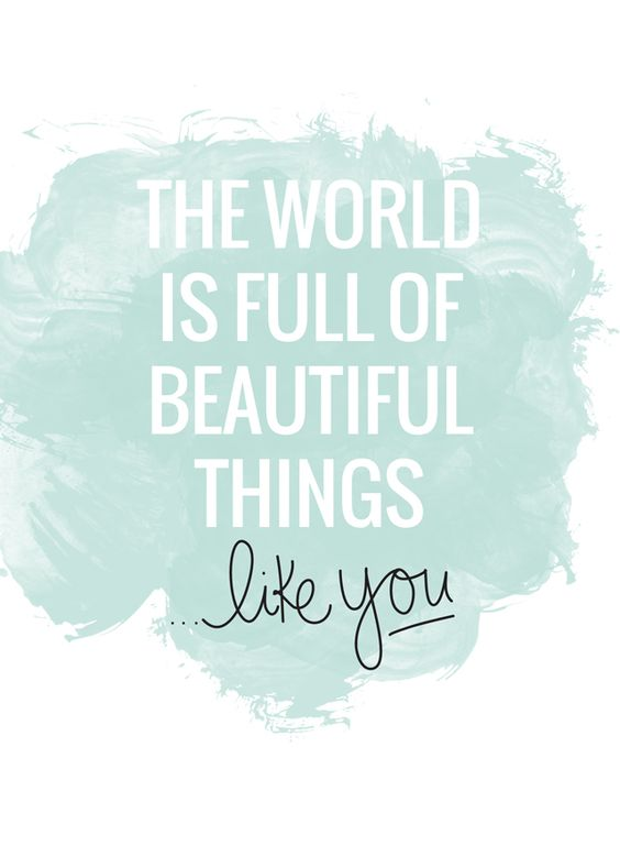Free printable 'beautiful things, like you.' from #pixelpaperhears: