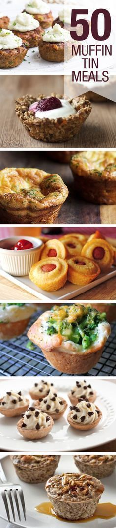 Check out these 50 meals you can make in a muffin tin!