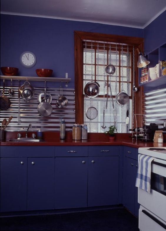 ideas for backsplash for kitchen corrugated steel corrugated steel adds pizzazz as a 7393