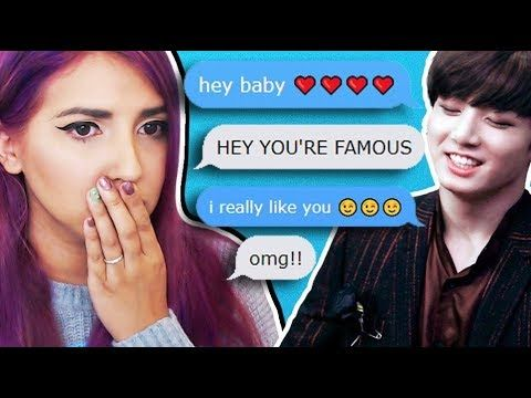 Talking To K Pop Stars Creepy Text Message App Mydol Creepy Texts Messages Creepy Text Messaging App