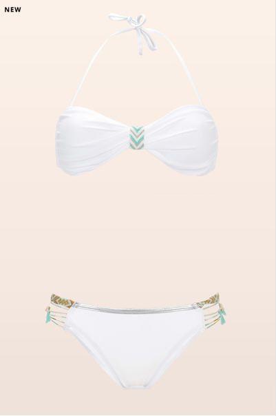 Bikini blanc bandeau bracelets brésiliens Fantasy Hipanema for Amenapih prix promo Maillot de Bain Monshowroom 115.00 €