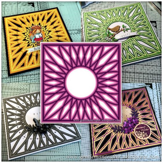 SVG Saturday – Diamond Circle Mandala Style Card Front Cutting File « Gentleman Crafter