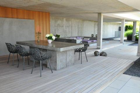 Terrassentraum mit Holzdeck und Sichtbeton #terrasse #holzboden - offene küche wohnzimmer abtrennen