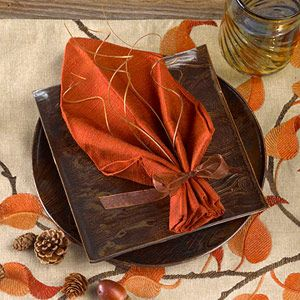 Easy napkin folding ideas for your holiday table the for How to fold napkins into turkeys