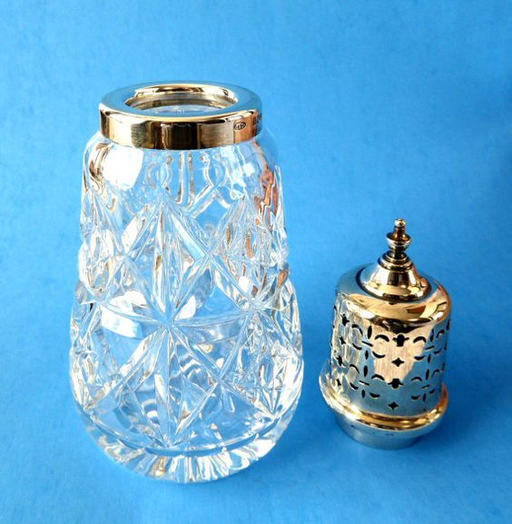 Muffineer Sterling Silver Top Sugar Shaker by AntiquesAndTeacups