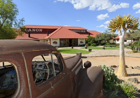 Old-timer in front of Canyon Roadhouse