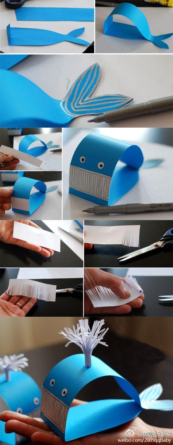 Baleine en papier